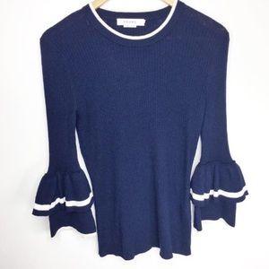 NWOT FRAME DENIM Double Ruffle Cuff sweater